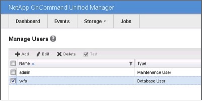 NetApp OnCommand Unified Manager 6.0 Manage Users with New WFA User